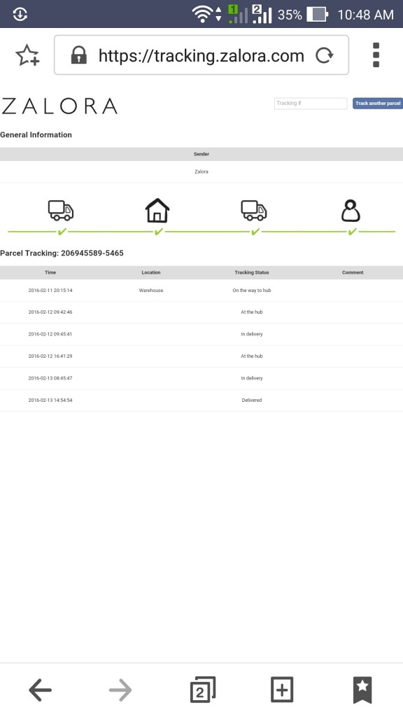 This is how their tracking tool looks like.